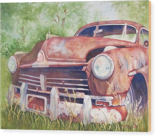 Rusty Relic Wood Print