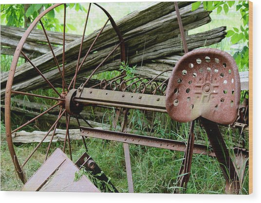 Rusty Seat Wood Print