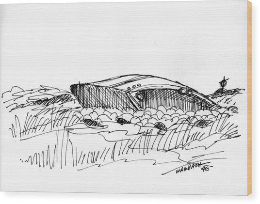 Rusty Shipwreck 1998 Wood Print