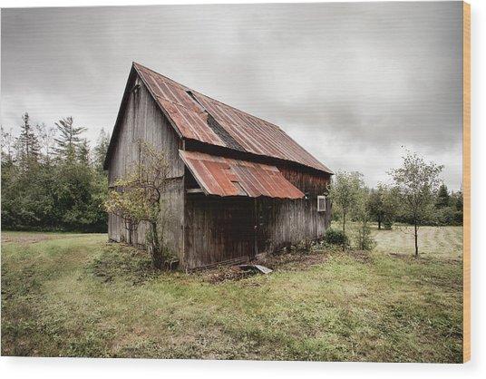 Rusty Tin Roof Barn Wood Print