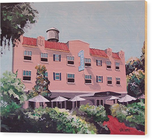Ryde Hotel Wood Print by Paul Guyer