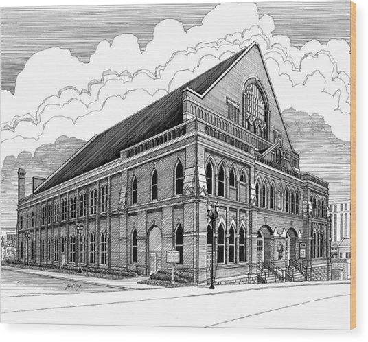 Ryman Auditorium In Nashville Tn Wood Print