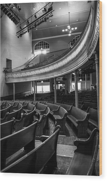Ryman Auditorium Pews Wood Print
