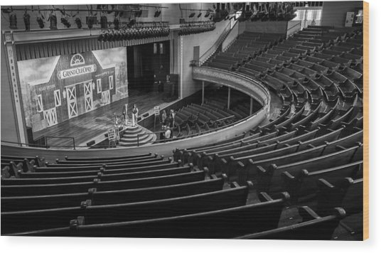 Ryman Stage Wood Print