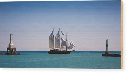 s/v Peacemaker Opening Wood Print