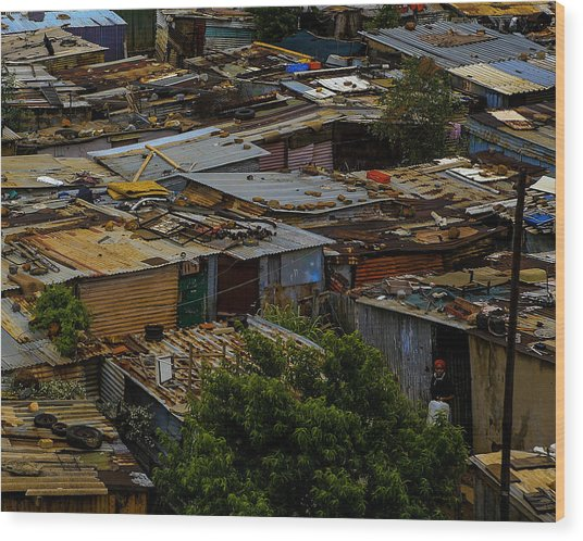 Sa Shanties Wood Print