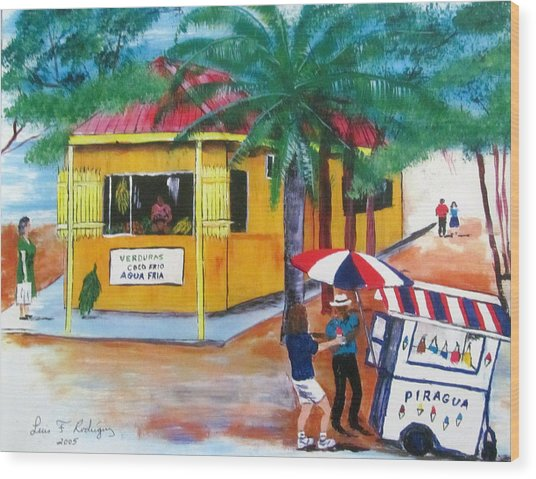 Sabor A Puerto Rico Wood Print