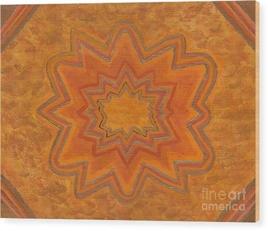 Sacral Flower Wood Print