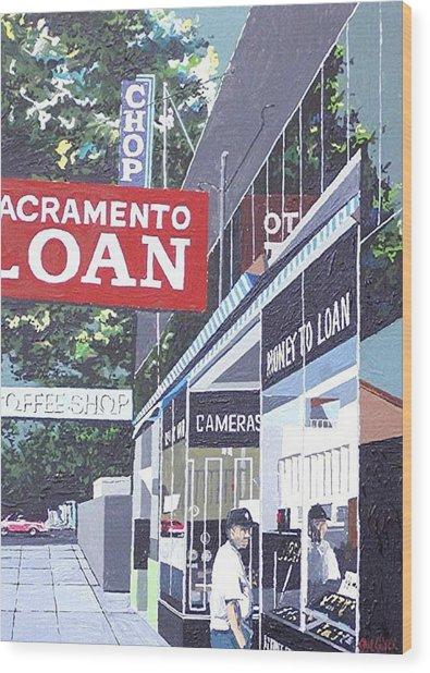 Sacramento Loan Wood Print by Paul Guyer