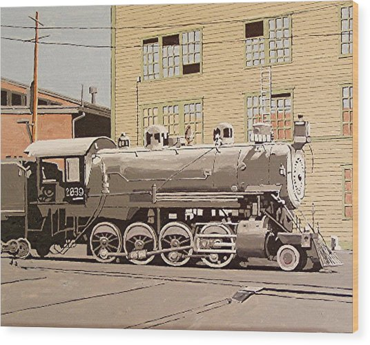 Sacramento Locomotive Works Wood Print by Paul Guyer