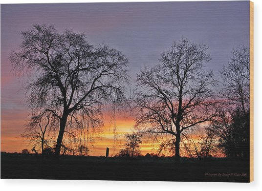 Sacramento Sunset Wood Print