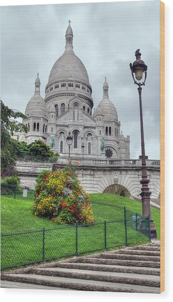Sacre Coeur Cathedral Wood Print by Ioan Panaite