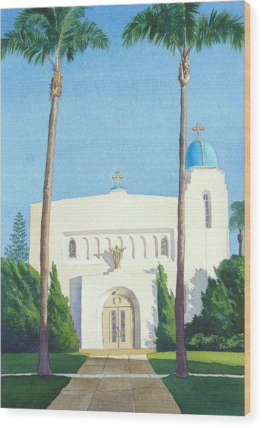 Sacred Heart Church Coronado Wood Print
