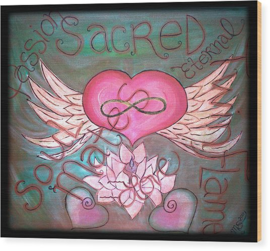 Sacred Soulmates And Twin Flames Wood Print