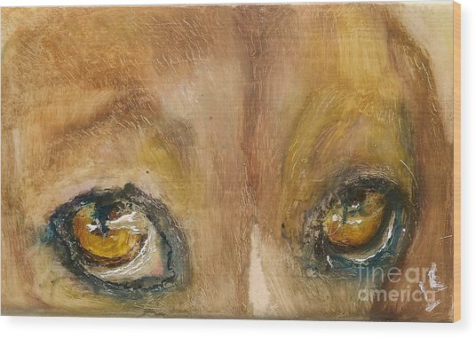 Sad Eyes Wood Print