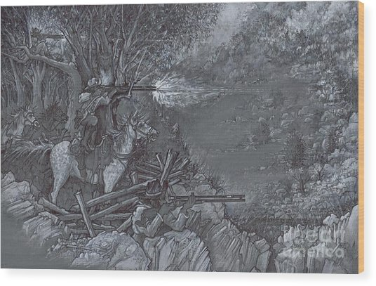 Saddle Sniper Wood Print