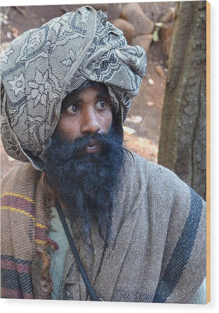 Sadhu At Amarkantak India Wood Print