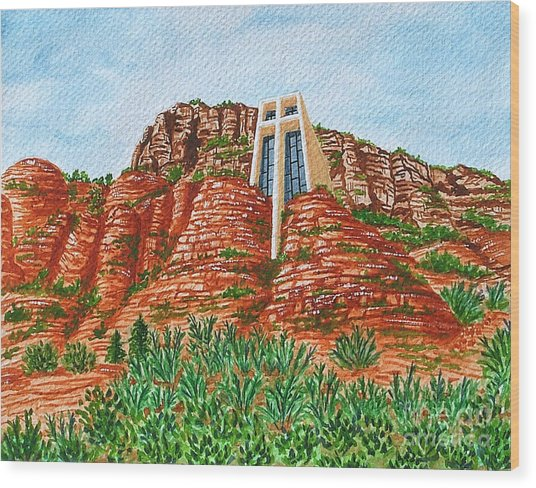 Sadona Church Wood Print