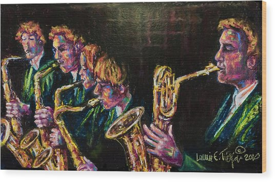Safe Sax Wood Print