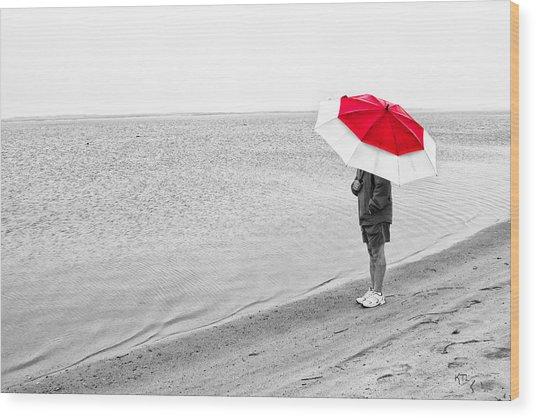 Safe Under The Umbrella Wood Print