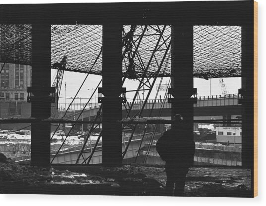 Safety Net Wtc   Wood Print