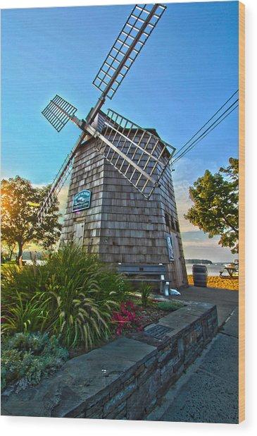 Sag Harbor Windmill Wood Print
