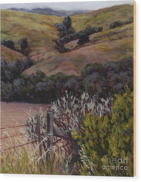 Sage At The Gate Wood Print