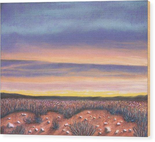 Sagebrush Sunset A Wood Print