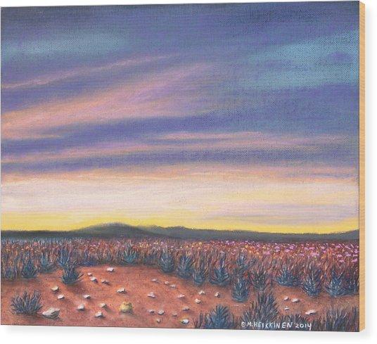 Sagebrush Sunset C Wood Print