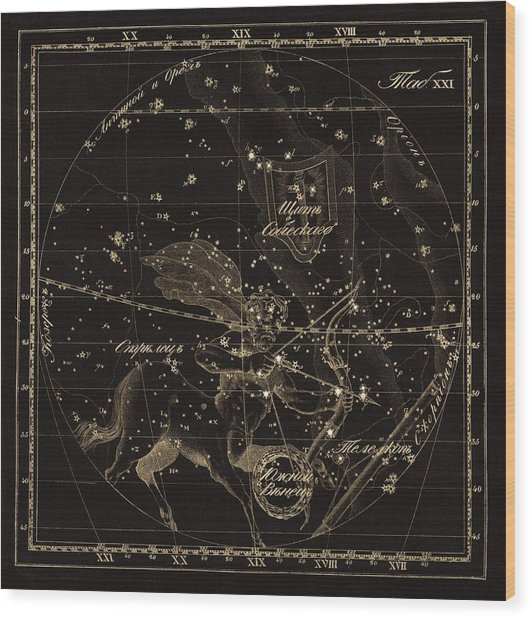 Sagittarius Constellations, 1829 by Science Photo Library