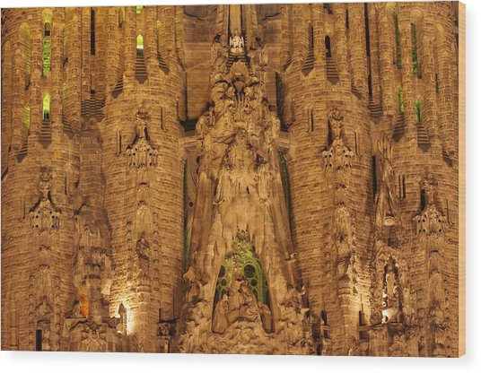 Sagrada Familia Wood Print by Ioan Panaite