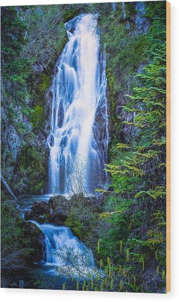 Sahalie Falls Wood Print