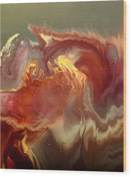 Sahara Dreams Fluid Abstract Art By Kredart Wood Print