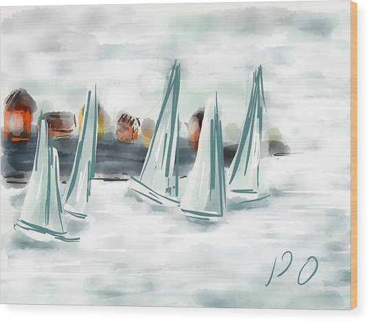 Sail Away With Me Wood Print