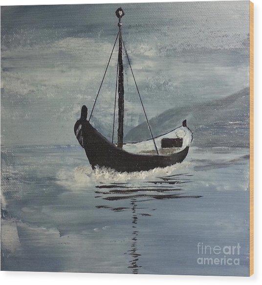 Sail-boat Wood Print