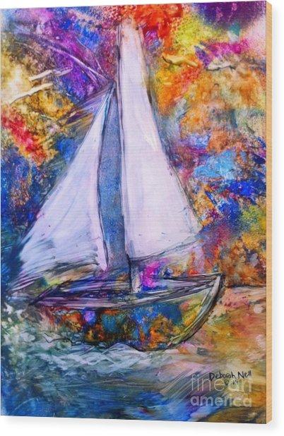 Sail On Wood Print