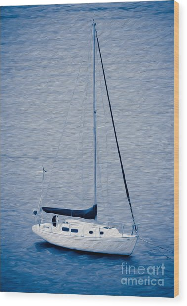 Sailboat Adventure In St. Thomas, Usvi Wood Print