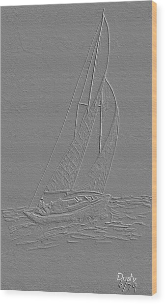 Sailboat Wood Print by Dusty Reed