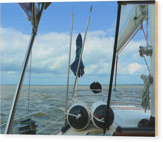 Sailboat View Horizontal Wood Print