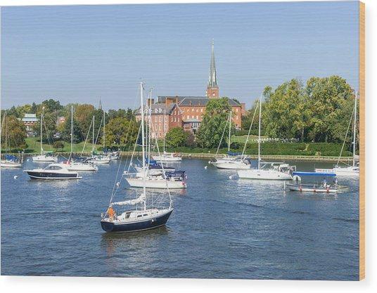 Sailboats By Charles Carroll House Wood Print