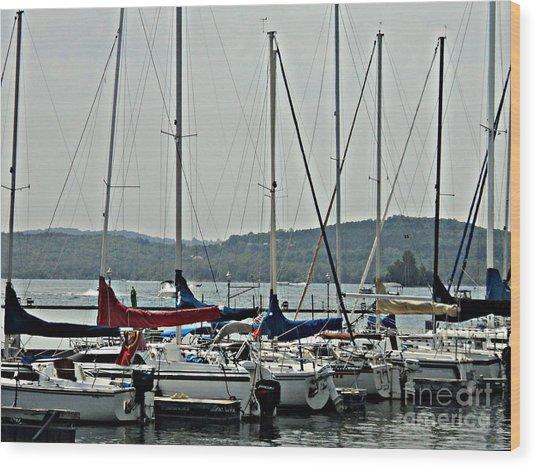 Sailboats Wood Print by Pics by Jody Adams
