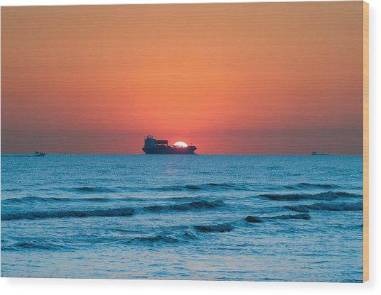 Sailing Across The Sun Wood Print