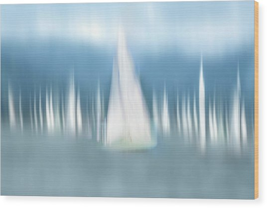 Sailing Wood Print by Anette Ohlendorf