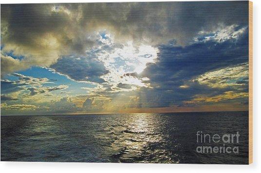 Sailing By Heaven's Door Wood Print