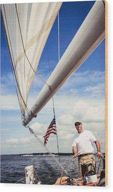Sailing Captain Pride Wood Print