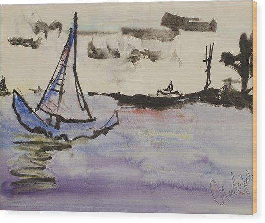 Sailing In Door County 2 Wood Print