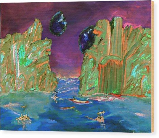 Sailing On Beta Antares 3 Wood Print