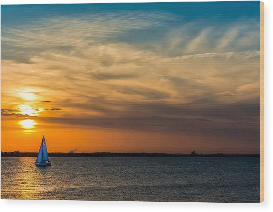 Sailing On The Chesapeake Wood Print