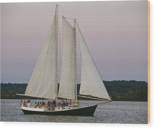 Sailing On The Potomac Wood Print
