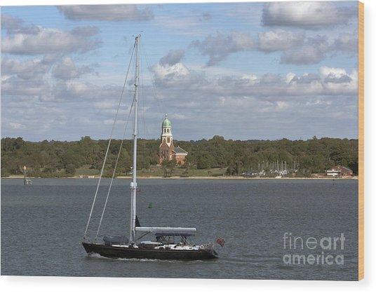 Sailing Past Netley Wood Print